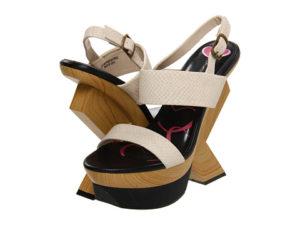 Sandale ieftine Promiscuous cu platforma in zig zag