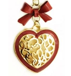 Colier Super Heart cu fundita rosie