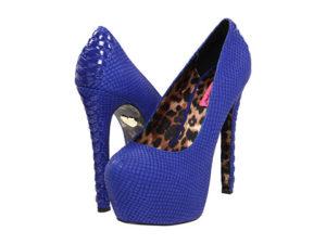 Pantofi online cu platforma si piele