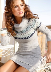 rochie tricotata toamna iarna