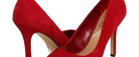 Pantofi online stiletto din piele intoarsa rosie